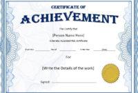 Amazing Badminton Achievement Certificate Templates