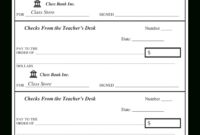 Amazing Blank Business Check Template
