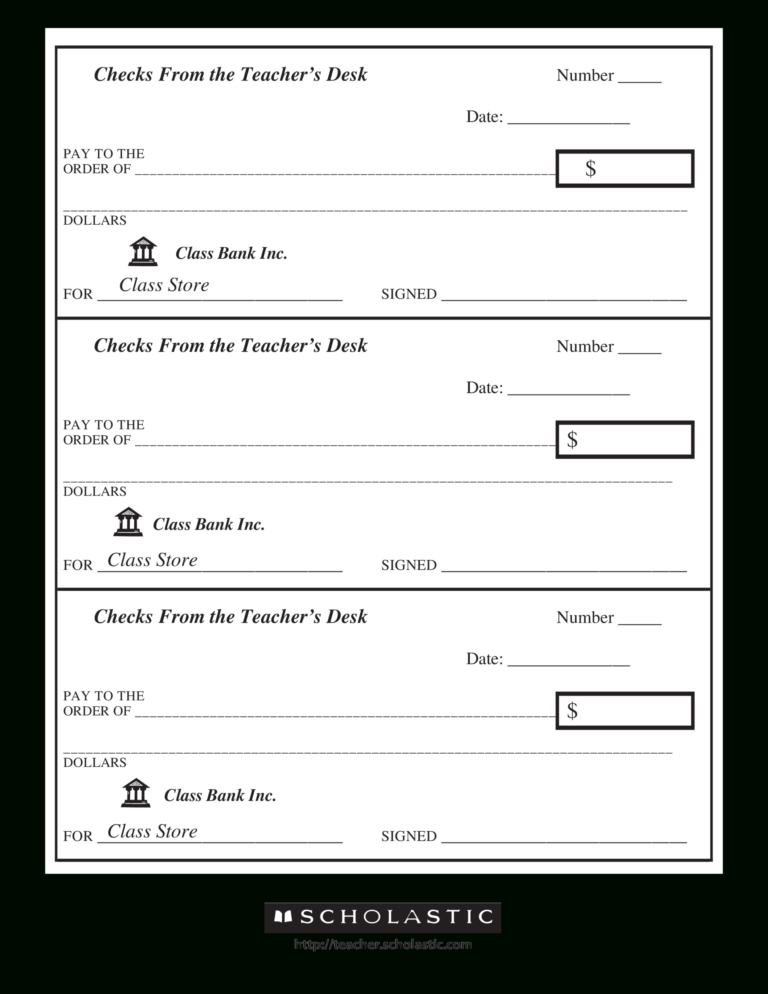 New Blank Business Check Template