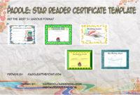 Amazing Super Reader Certificate Template