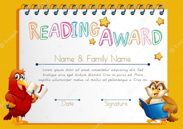 Awesome Super Reader Certificate Template