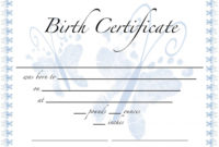 Awesome Rabbit Birth Certificate Template Free 2019 Designs