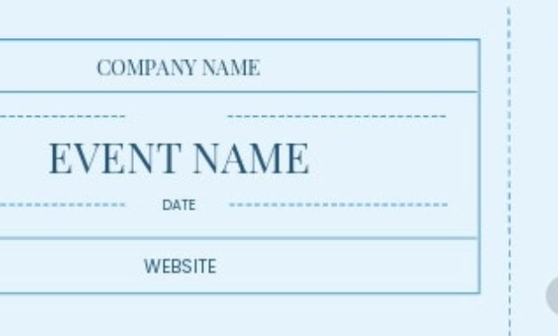 Best Blank Admission Ticket Template