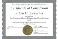 Best Certificate Of Completion Templates Editable