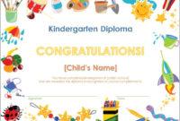 Best Kindergarten Certificate Of Completion Free