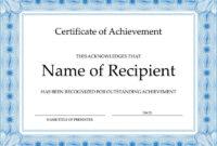 Fantastic Badminton Achievement Certificate Templates