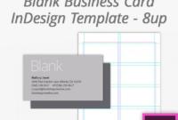 Fantastic Blank Business Card Template Psd