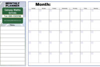 Fantastic Blank Revision Timetable Template