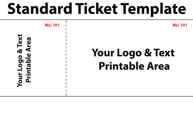 Fascinating Blank Admission Ticket Template
