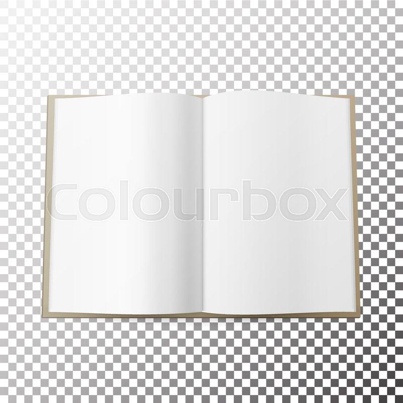 Simple Blank Magazine Spread Template