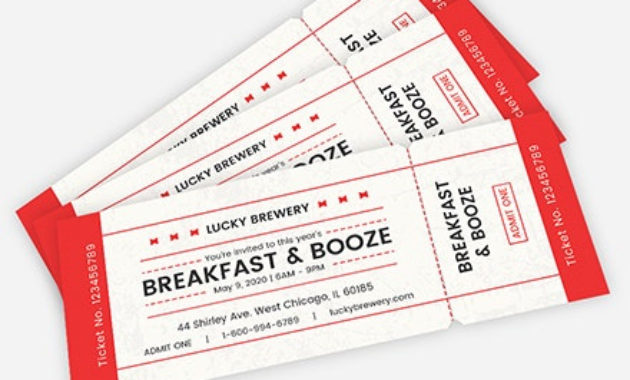 Fresh Blank Admission Ticket Template
