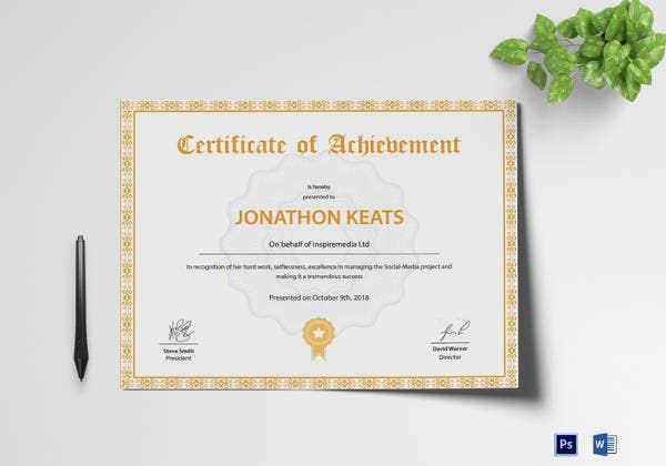 Best Badminton Achievement Certificate Templates