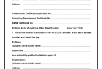 Professional Conformity Certificate Template
