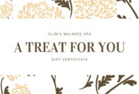 Professional Spa Gift Certificate