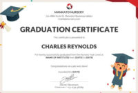 Simple 5Th Grade Graduation Certificate Template