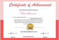 Simple Badminton Achievement Certificate Templates