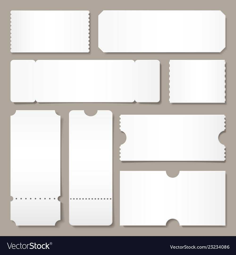 Simple Blank Admission Ticket Template