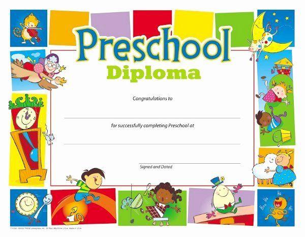 Simple Kindergarten Certificate Of Completion Free