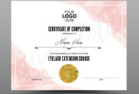 Stunning Certificate Of Completion Templates Editable