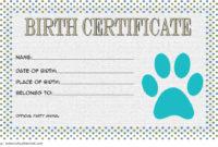 Stunning Rabbit Birth Certificate Template Free 2019 Designs