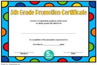 Top 5Th Grade Graduation Certificate Template