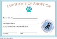 Top Rabbit Birth Certificate Template Free 2019 Designs