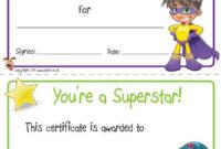 Top Super Reader Certificate Template