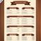 Amazing Blank Restaurant Menu Template