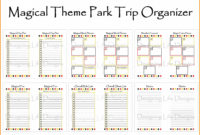 Amazing Daily Vacation Itinerary Template