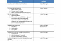 Amazing Project Management Kick Off Meeting Agenda Template
