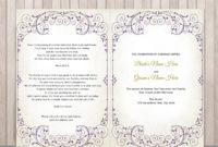Amazing Wedding Ceremony Itinerary Template