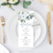 Awesome Bridal Shower Menu Template