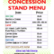 Awesome Concession Stand Menu Template