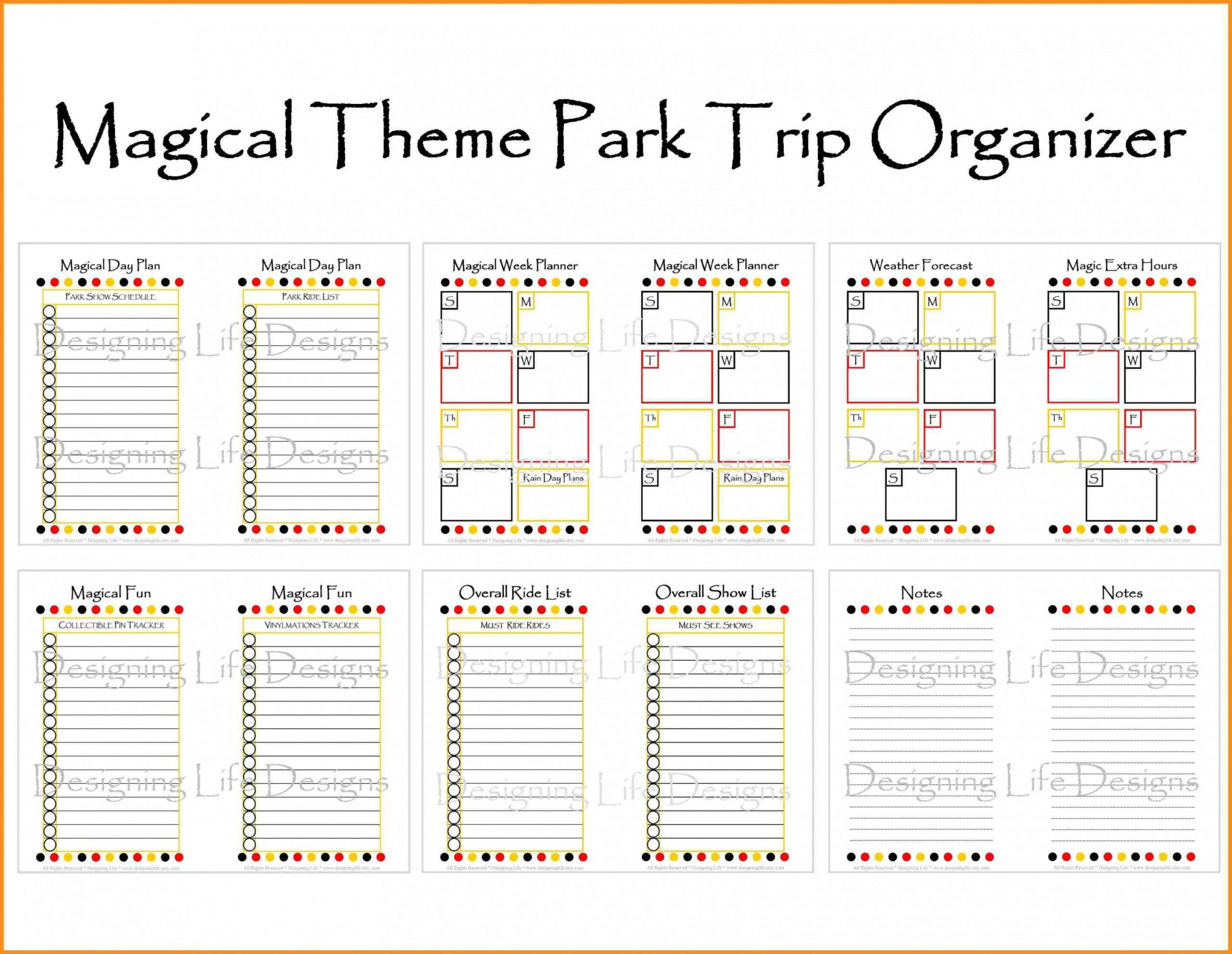 Awesome Disney World Itinerary Template