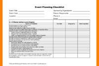 Awesome Event Planning Itinerary Template