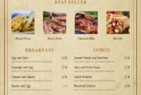 Awesome Free Restaurant Menu Templates For Microsoft Word