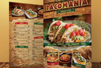 Awesome Mexican Menu Template Free Download