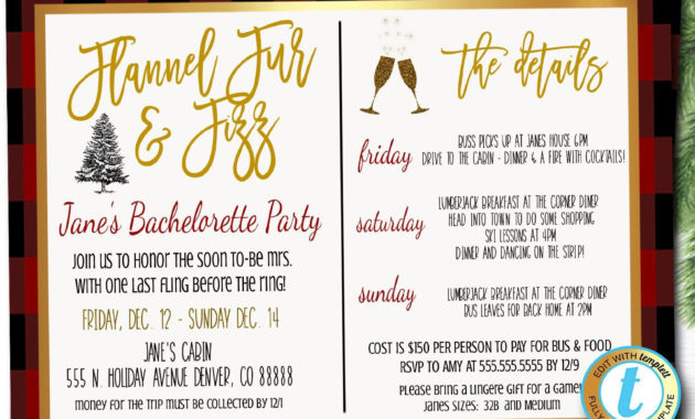 Best Bridal Shower Itinerary Template