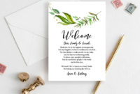 Best Wedding Welcome Bag Itinerary Template