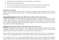 Fantastic Investment Policy Statement Template For Individuals