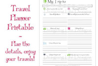 Fantastic Travel Agent Itinerary Template