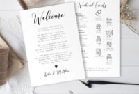 Fantastic Wedding Welcome Itinerary Template