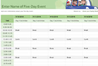 Fascinating Event Planning Itinerary Template