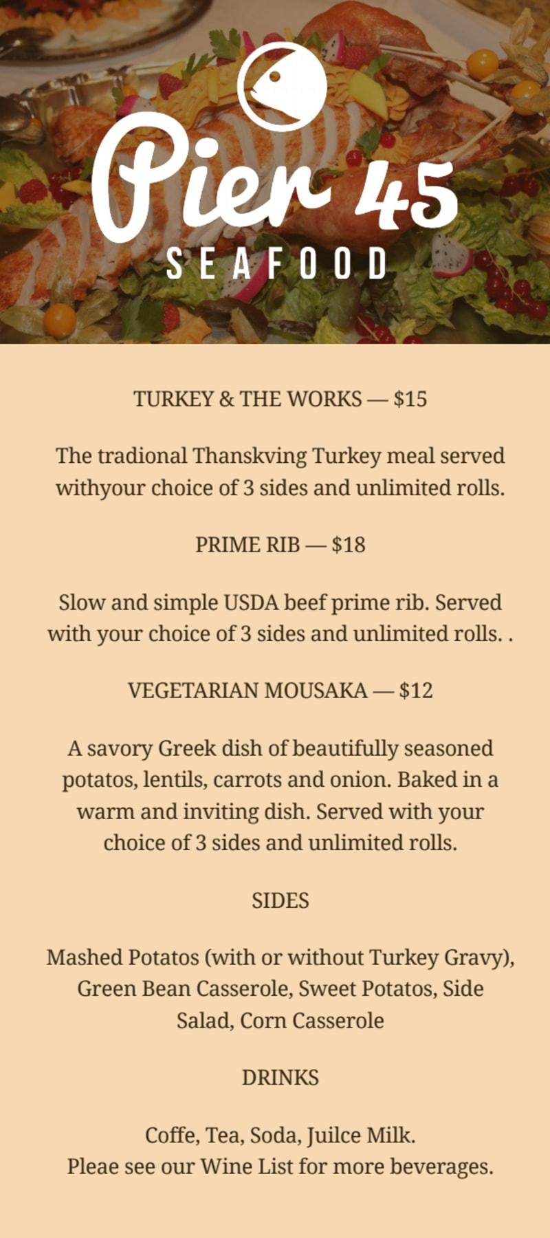 Fascinating Thanksgiving Day Menu Template