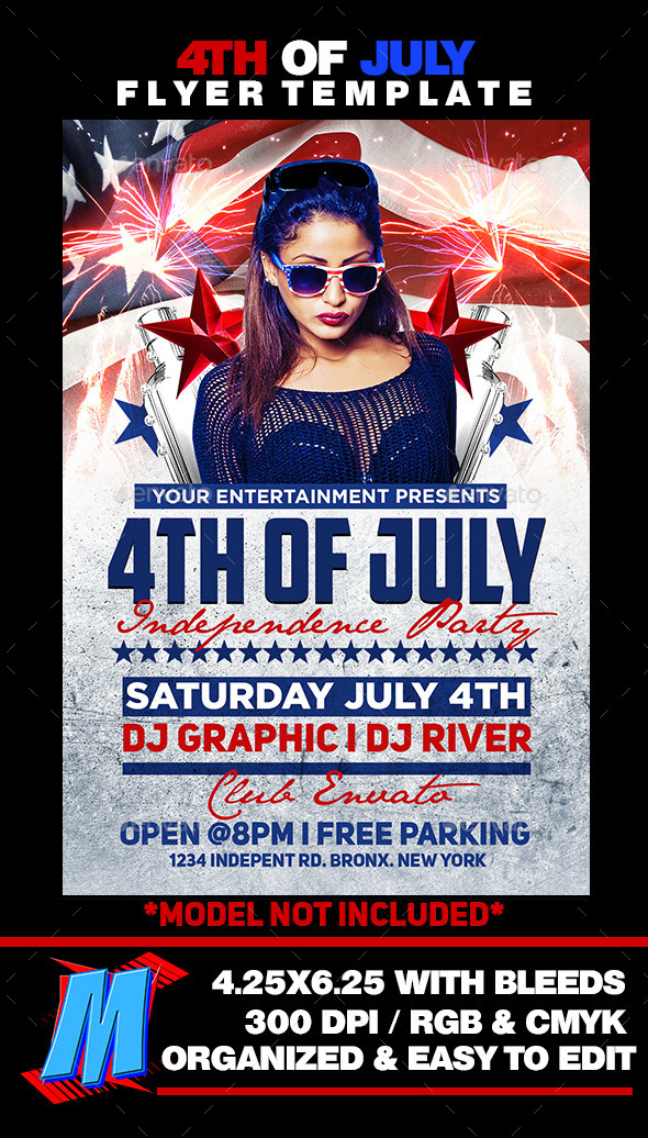 Free 4Th Of July Menu Template