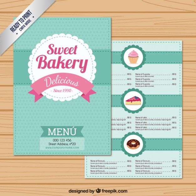 Free Free Bakery Menu Templates Download
