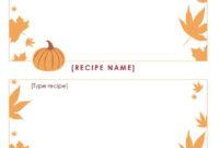 Free Thanksgiving Menu Template Printable