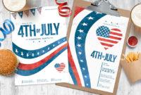 Fresh 4Th Of July Menu Template
