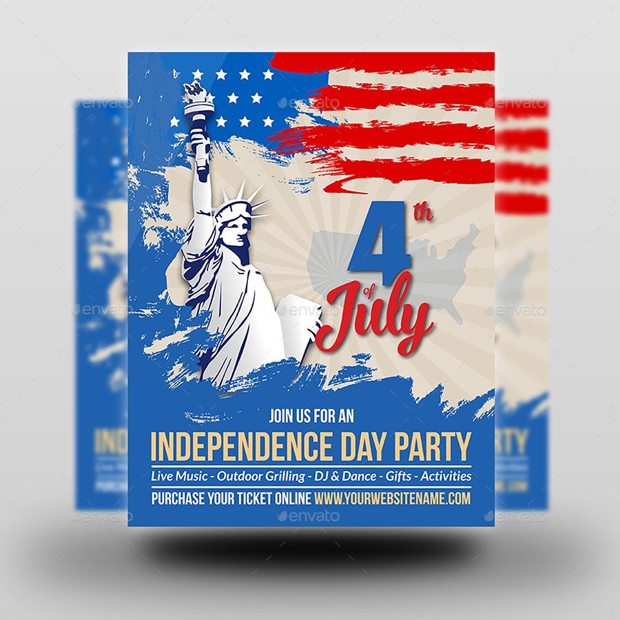 Fantastic 4Th Of July Menu Template