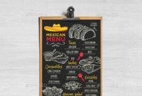 Fresh Mexican Menu Template Free Download